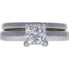 1.04 ct. Princess Cut Bridal Set Ring, H, VS2 #3