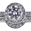 0.80 ct. Round Cut Bridal Set Ring, H, VS1 #4