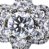 1.15 ct. Round Cut Blossom Cluster Ring, I, SI1 #4