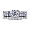 0.78 ct. Round Cut Bridal Set Ring, D, I1 #3