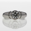 1.00 ct. Round Cut Central Cluster Ring #4