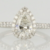1.13 ct. Pear Cut Halo Ring #1