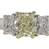 1.76 ct. Radiant Cut 3 Stone Ring #4