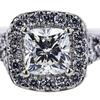 0.87 ct. Cushion Modified Cut Bridal Set Ring, I-J, SI1-SI2 #1