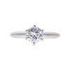 0.78 ct. Round Cut Solitaire Ring, E, IF #3