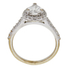 1.0 ct. Pear Cut Halo Ring, F, SI2 #3