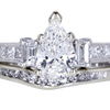 .95 ct. Pear Cut Bridal Set Ring #3