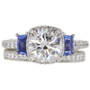 1.27 ct. Round Cut Bridal Set Tacori Ring, J, VS2 #3