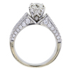 0.96 ct. Round Cut Bridal Set Ring, J, SI2 #4