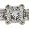 0.92 ct. Princess Cut Bridal Set Ring, I, SI2 #1