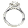 1.0 ct. Round Cut Halo Ring, K, SI2 #3