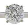 2.13 ct. Round Cut Solitaire Ring, H, I2 #4