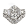 1.17 ct. Old Mine Cut Bridal Set Ring #4