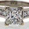 1.18 ct. Princess Cut Solitaire Ring #4
