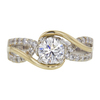 0.93 ct. Round Cut Solitaire Ring, G, SI2 #3