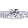 1.01 ct. Round Cut Bridal Set Ring, F, VS1 #3