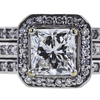 1.01 ct. Radiant Cut Bridal Set Ring, G, VS2 #4