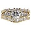 1.01 ct. Round Cut Bridal Set Ring, I, VVS2 #3