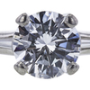 1.33 ct. Round Cut Bridal Set Ring, D, VS1 #4