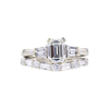 Art Deco GIA 1.04 ct. Emerald Cut Bridal Set Ring, J, VS2 #3