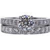 1.22 ct. Round Cut Bridal Set Ring #3