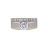0.64 ct. Round Cut Bridal Set Ring, F, SI1 #3