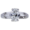 1.46 ct. Oval Cut Solitaire Ring, E, SI1 #3