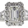 0.9 ct. Emerald Cut Halo Ring, I, VS2 #4