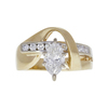 1.11 ct. Marquise Cut Ring, H, SI1 #3
