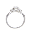 0.67 ct. Round Cut Bridal Set Ring, E, VS2 #4
