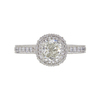 1.0 ct. Cushion Modified Cut Halo Ring, J, VS2 #3