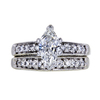 1.00 ct. Marquise Cut Bridal Set Ring, G, SI1 #3