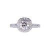 1.05 ct. Round Cut Halo Ring, H, SI2 #4