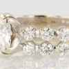 EGL Certified 2.17 ct. Cushion Cut Bridal Set Ring #2