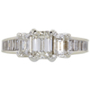 1.01 ct. Emerald Cut 3 Stone Ring, I, SI1 #3