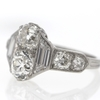 1.17 ct. Old Mine Cut Bridal Set Ring #1