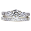 0.91 ct. Round Cut Bridal Set Ring, J, SI1 #3