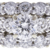 0.97 ct. Round Modified Brilliant Cut Bridal Set Ring, F, SI2 #4