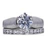 1.55 ct. Round Cut Bridal Set Ring, G, VS2 #3