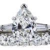 2.17 ct. Pear Cut Bridal Set Ring #4