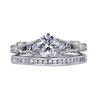 0.90 ct. Round Cut Bridal Set Ring, G, SI1 #2