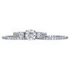 1.00 ct. Round Cut Bridal Set Ring, G, VS2 #3