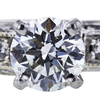 0.73 ct. Round Cut Bridal Set Ring, H, SI1 #1