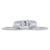 1.09 ct. Emerald Cut Bridal Set Ring, F, VS2 #3