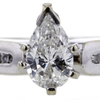 .97 ct. Pear Cut Bridal Set Ring #2