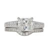 1.5 ct. Cushion Modified Cut Bridal Set Ring, J, SI2 #3