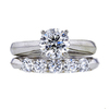 1.00 ct. Round Cut Bridal Set Ring, H, I1 #4