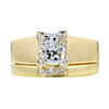 1.03 ct. Princess Cut Bridal Set Ring, I, VS1 #3