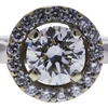 1.03 ct. Round Cut Halo Ring, H, SI1 #4