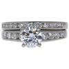 1.0 ct. Round Cut Bridal Set Ring, H, I1 #4